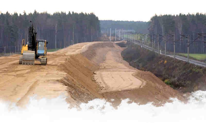 строительство дорожной насыпи
